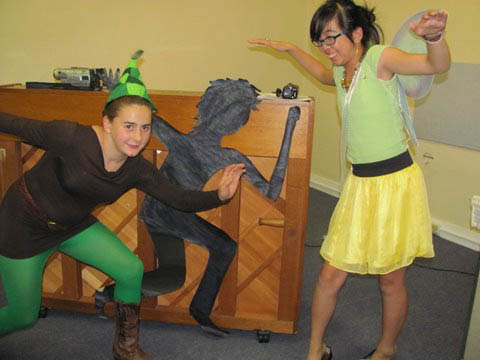 Peter Pan at mystery party