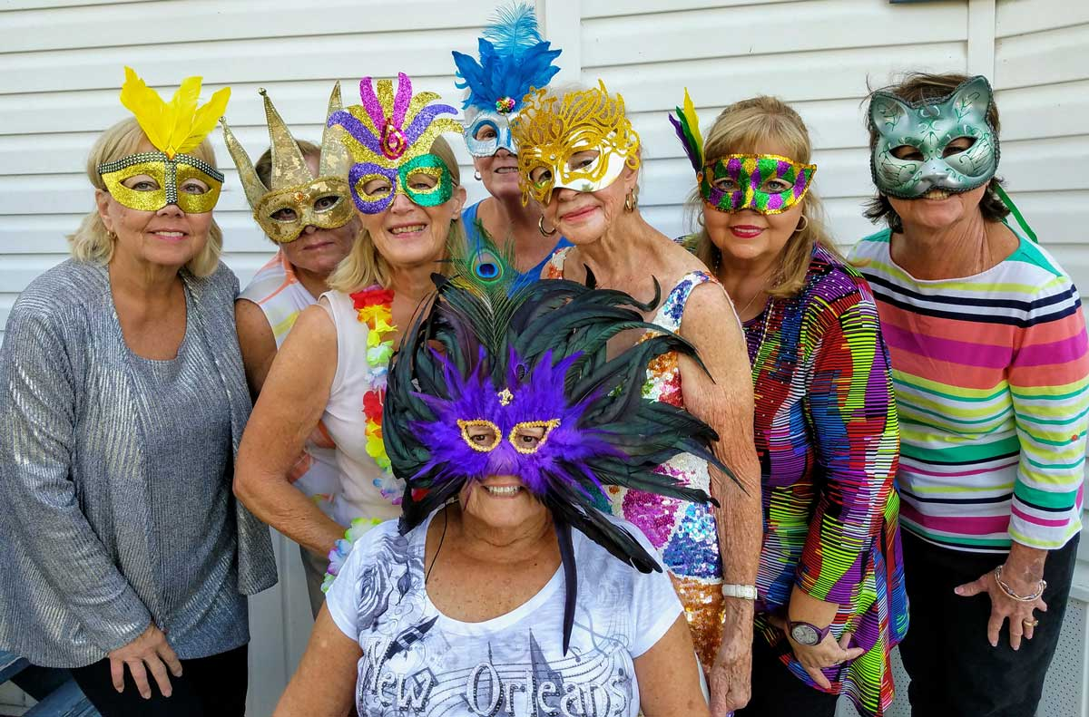 A hen's night mardi gras party pic